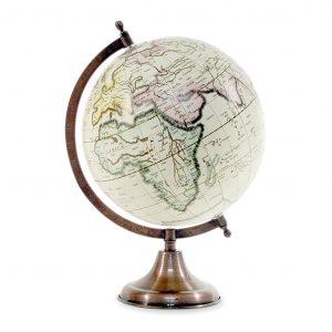 WORLD GLOBE ON METAL BASE 21.5X20X33CM